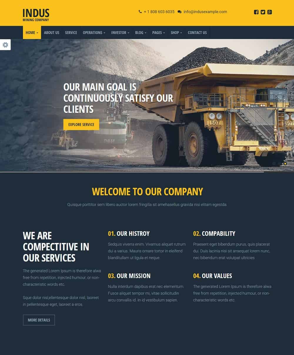 cunstruction Business WordPress Theme