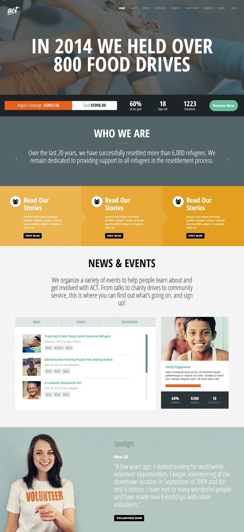 Act Nonprofit Charity  Ngo Templates