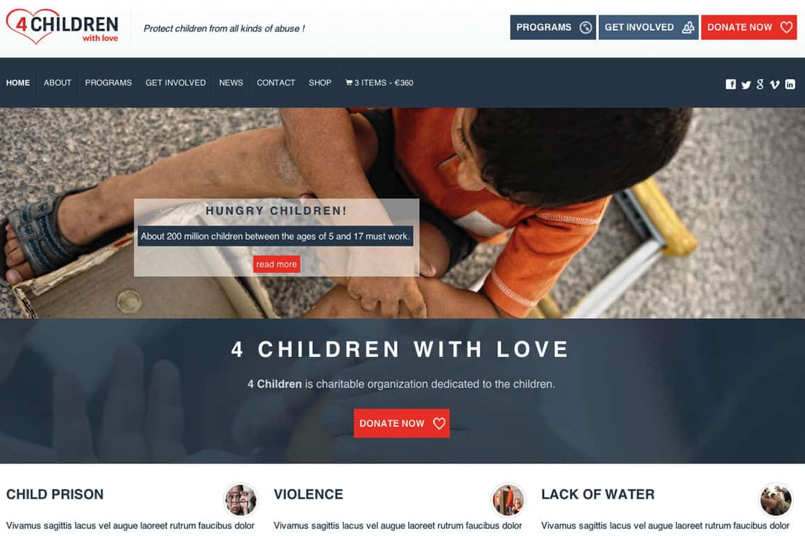 charity wordpress