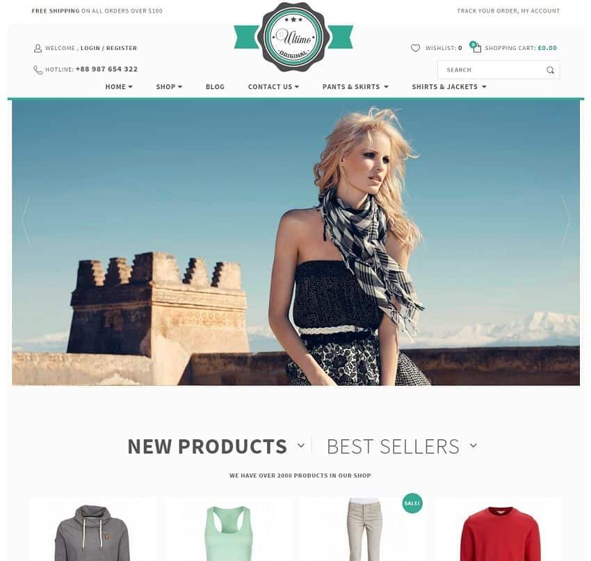 ecommerce wordpress theme - ultimo