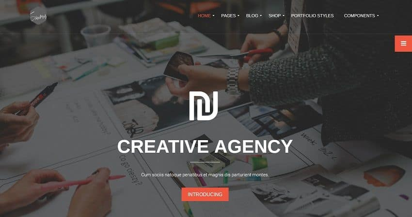 unique wordpress theme for agency