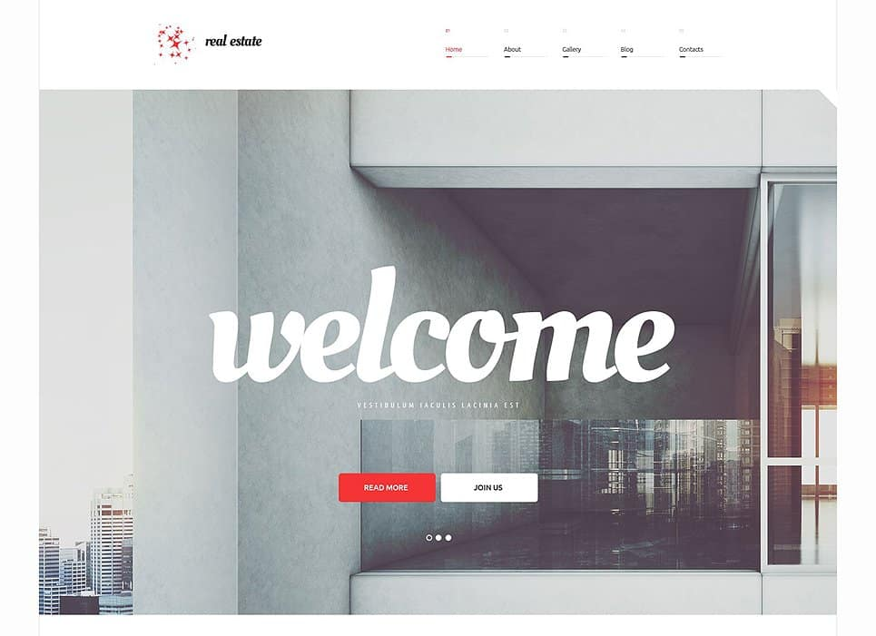 real estate simple wordpress theme