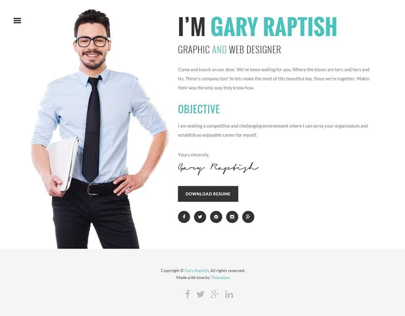Resume Website Template Essay Writing How To Get Your Wordpress Free  Download Theme Forest Curriculum Vitae . Wordpress Resume Cv Template ...  Wordpress Resume Template