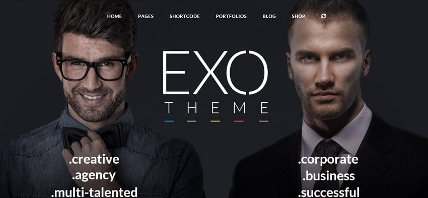 exo corporate wordpress theme
