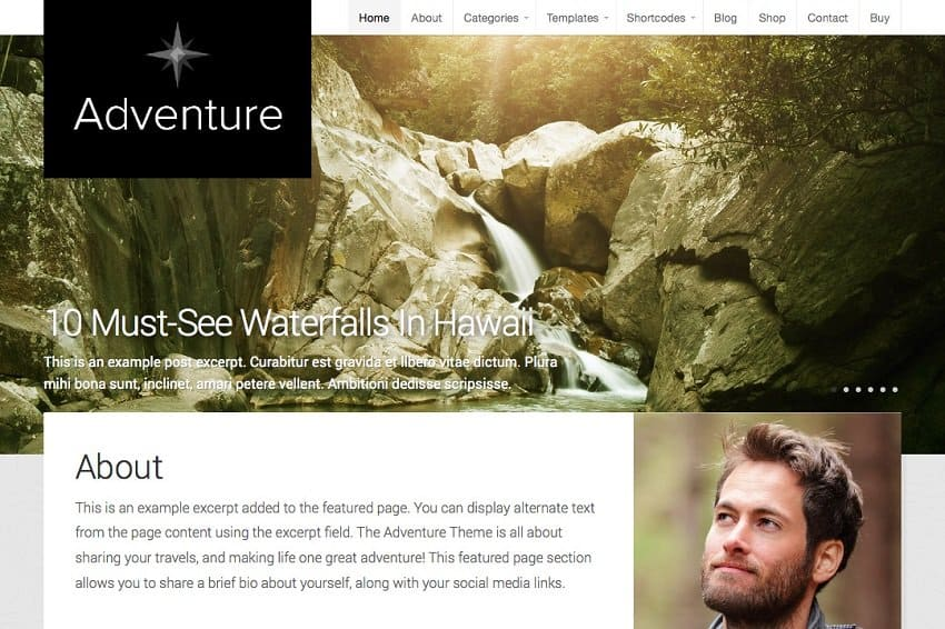 adventure wordpress theme for travelers