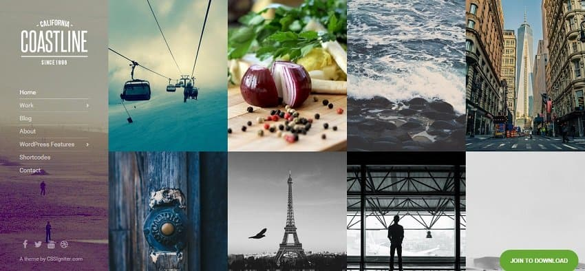 coastline wordpress theme for photographers