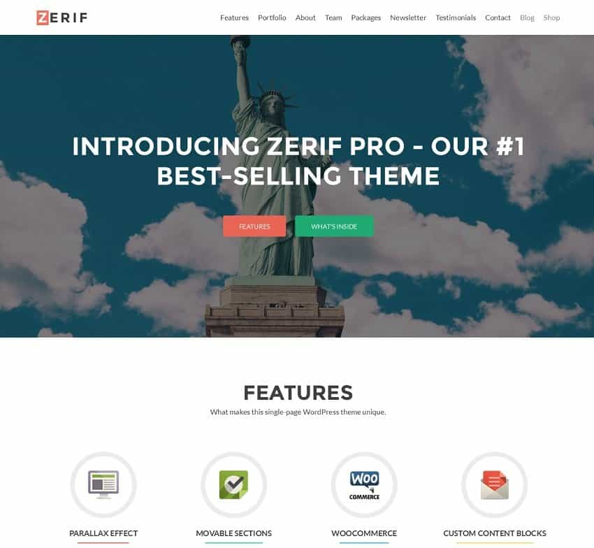zerif simple wordpress template