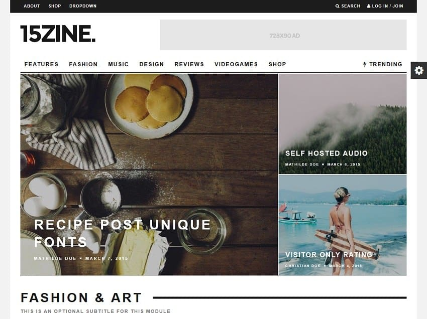15zine wordpress magazine
