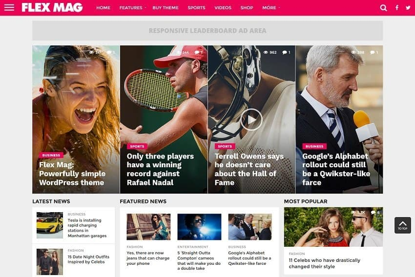 magazine wordpress theme -flexmag