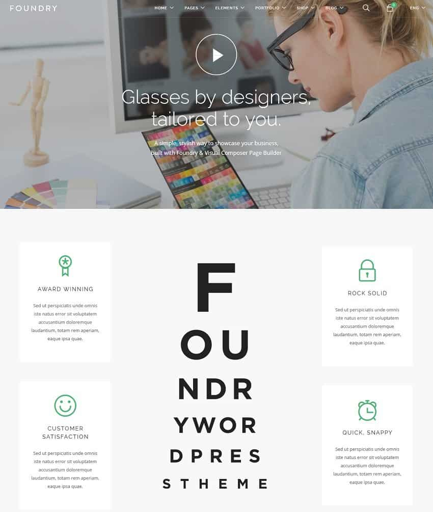 foundry - business wordpress theme
