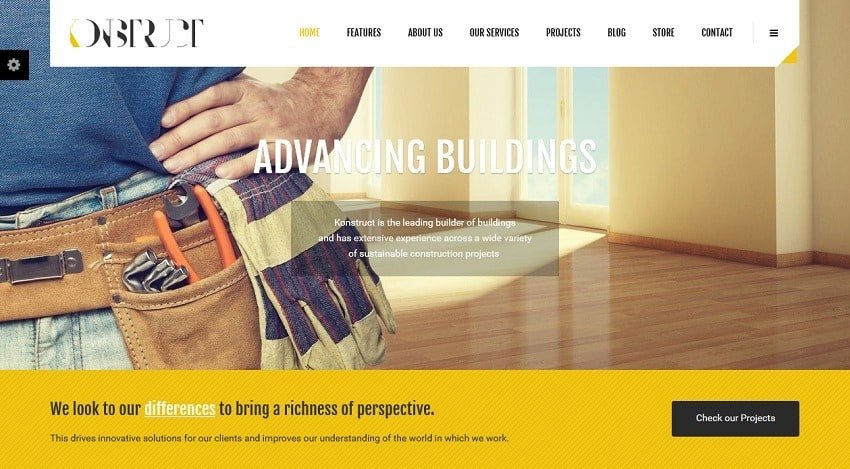 konstrcut wordpress theme