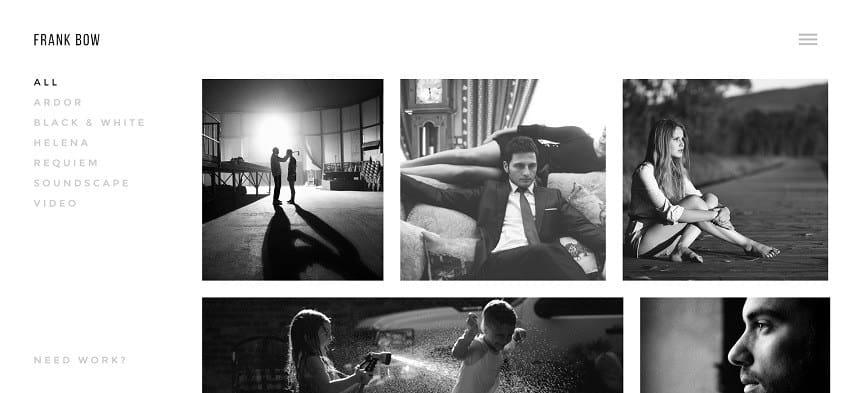 bow photography wordpress theme