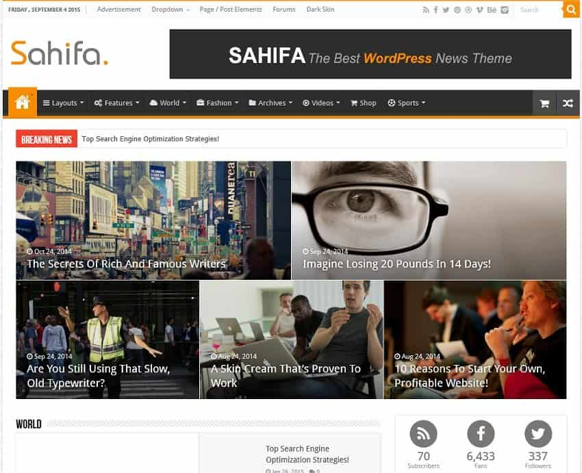 sahifa news template