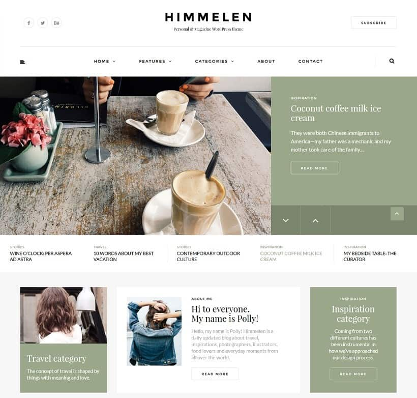 wordpress theme for magazines and blogs