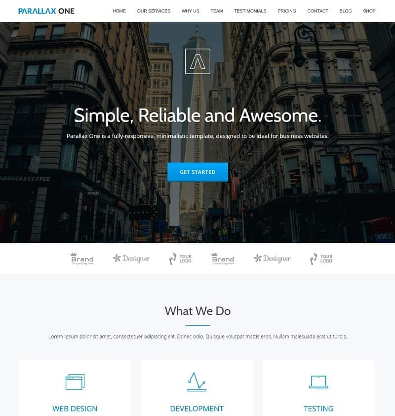 another simple wordpress theme