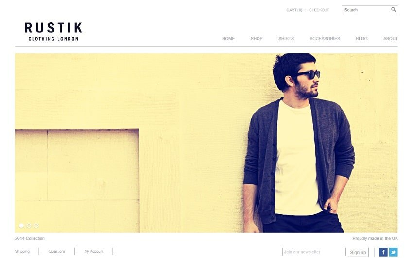 rustik simple wp theme
