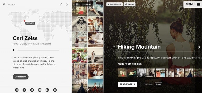 photography portfolio theme for creatives