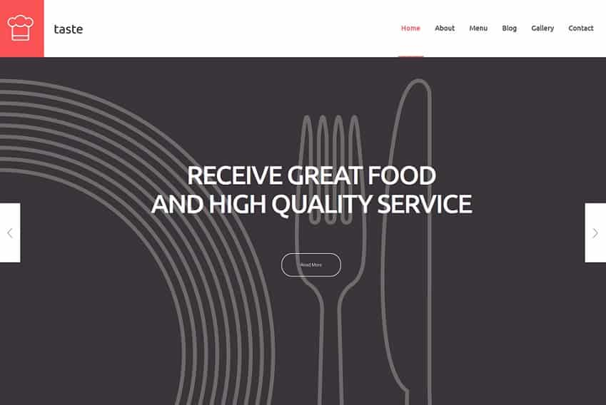 catering simple wordpress theme
