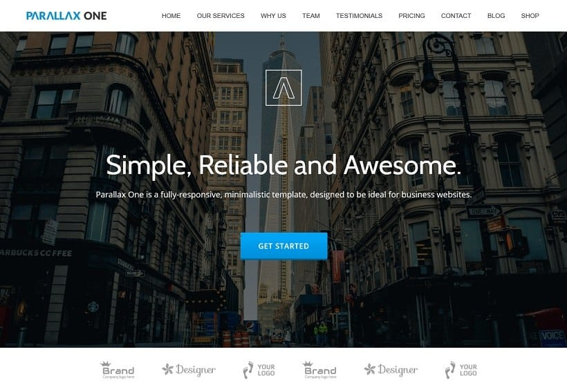 creative one page theme
