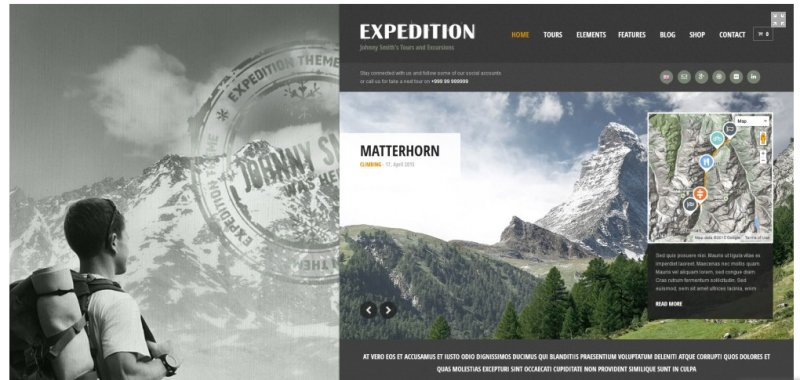 expedition travel wordpress theme