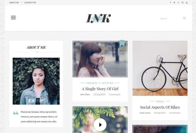 Ink - blog magazine theme