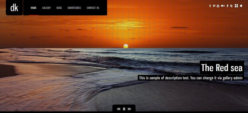 photography creative website theme