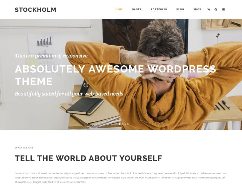 stockholm clean wordpress theme