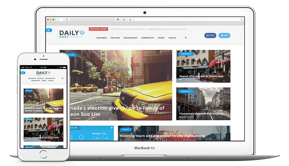 dailypost magazine wp theme