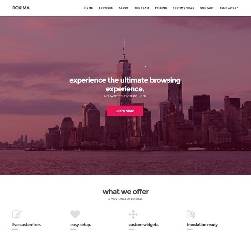 roxima simple wordpress theme