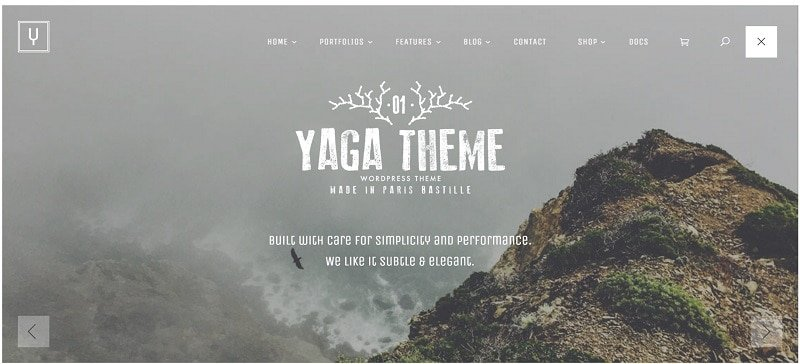 yaga theme with clean design