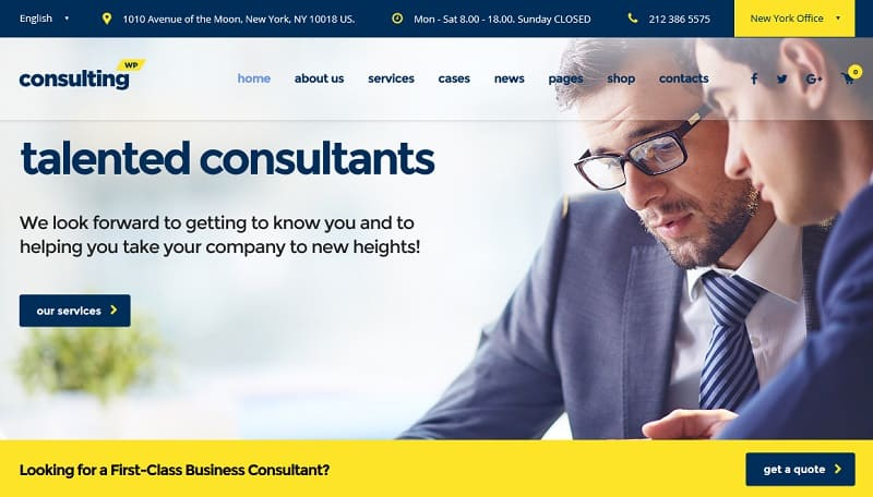 business theme for consultants