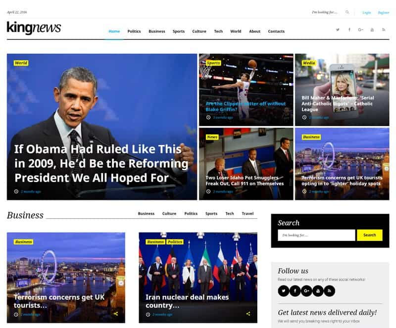 kingnews wordpress theme