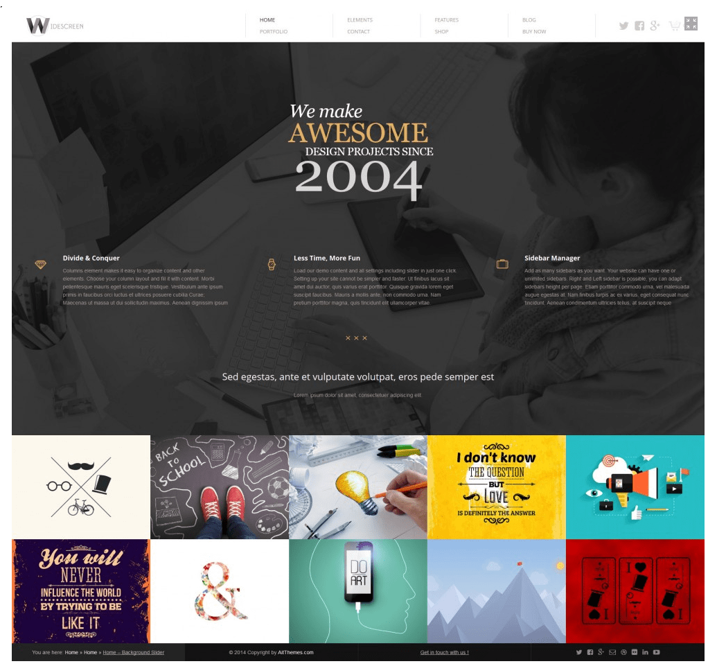 ait wp theme for portfolio website