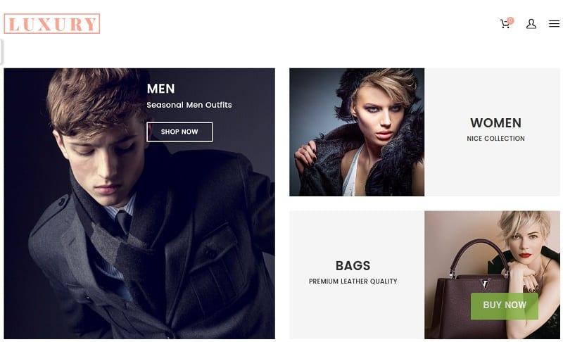 luxury ecommerce theme