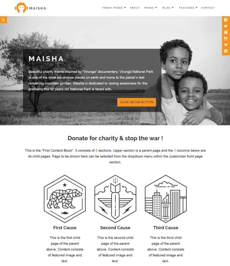 Maisha – Charity, Non-Profit WP Theme