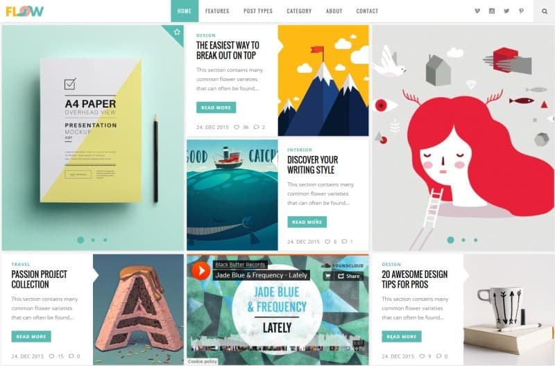 Best Blog Design 30+ the most creative wordpress themes of 2017