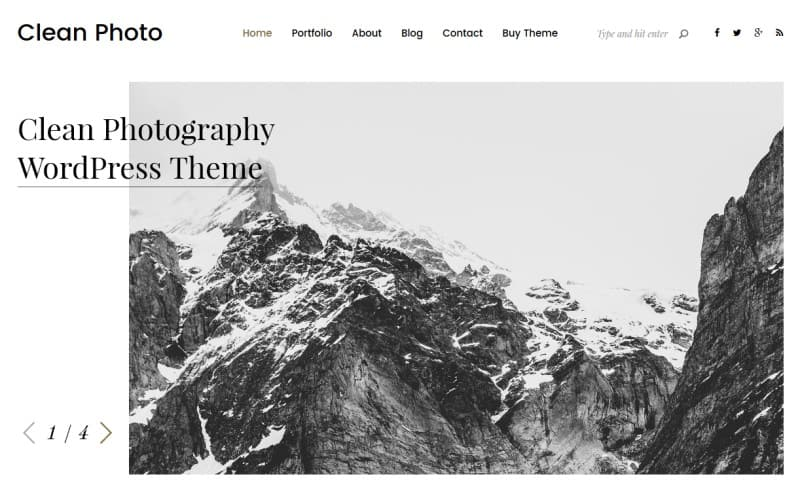 clean photography theme
