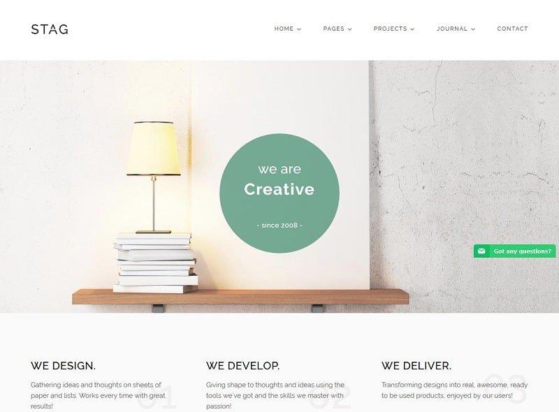stag creative portfolio theme