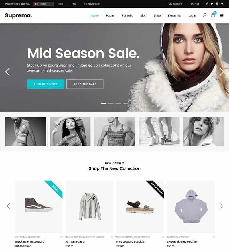 suprema ecommerce theme for wp