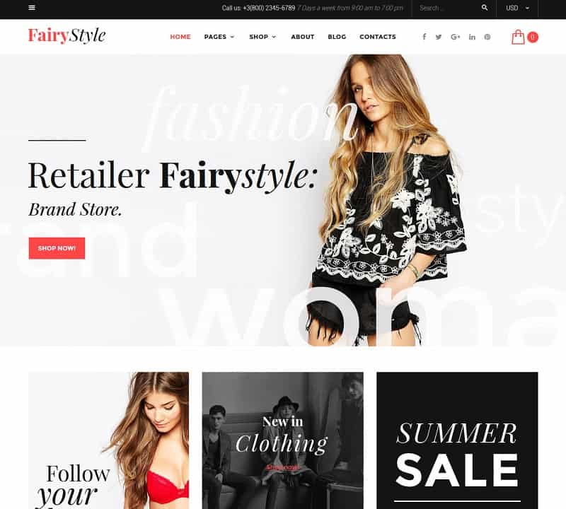 fashion ecommerce wp theme