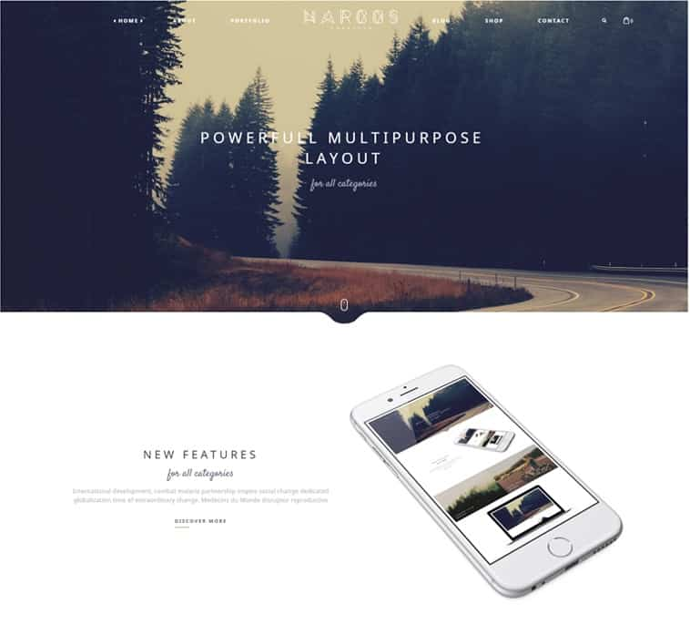 narcos - simple theme for wordpress website