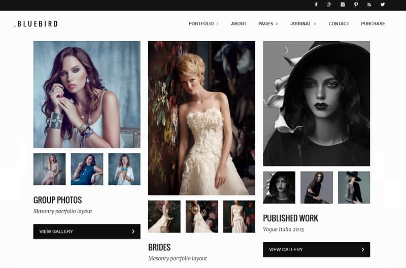 masonry portfolio theme for photogrpahers