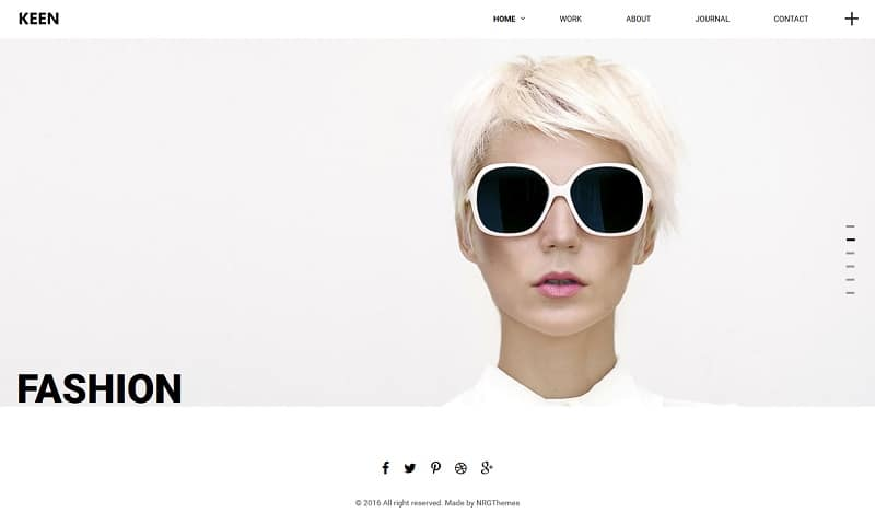 minimal photography theme