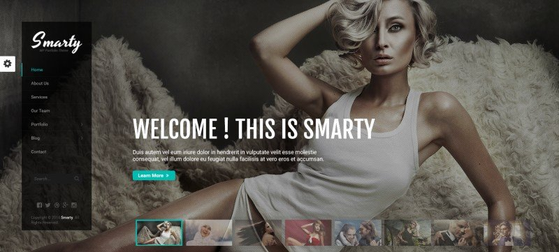 smarty photography wordpress theme