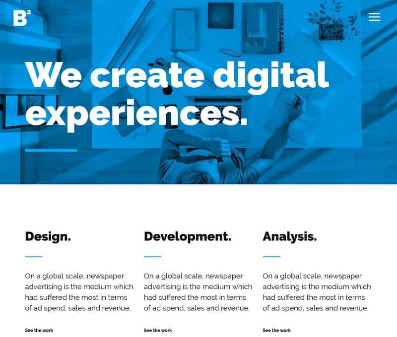 Multipurpose and simple theme for wordpress website
